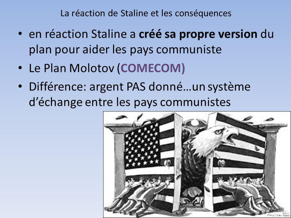 La réaction de Staline et les conséquences