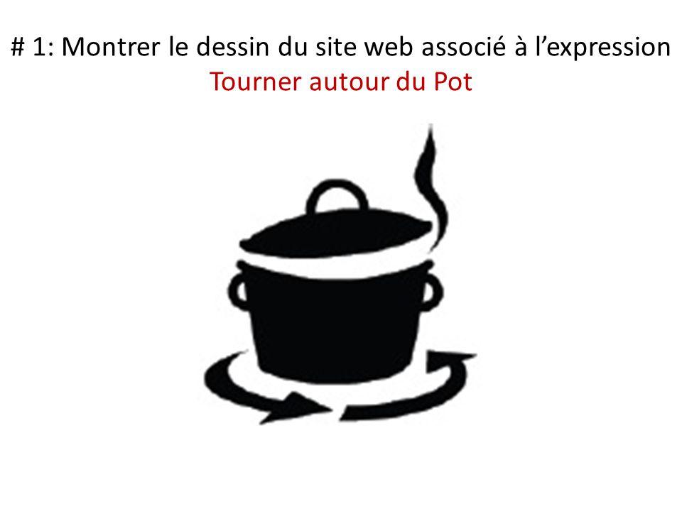 # 1: Montrer le dessin du site web associé à l'expression Tourner autour du Pot