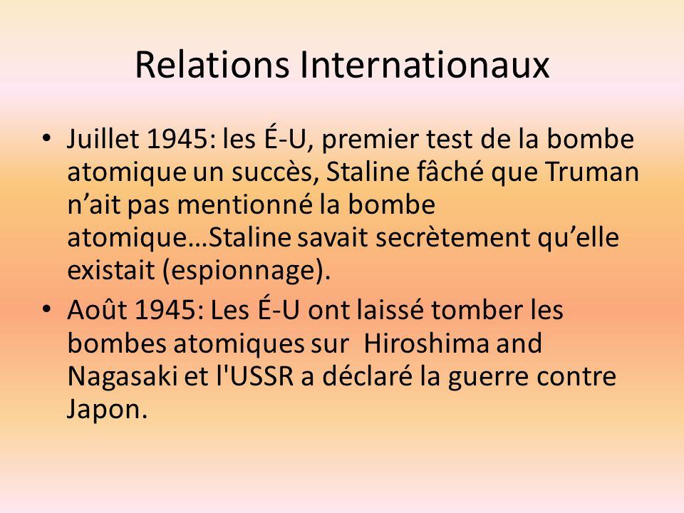 Relations Internationaux
