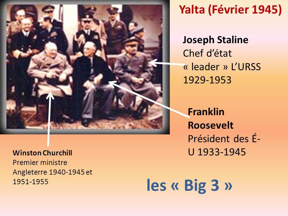 les « Big 3 » Yalta (Février 1945)
