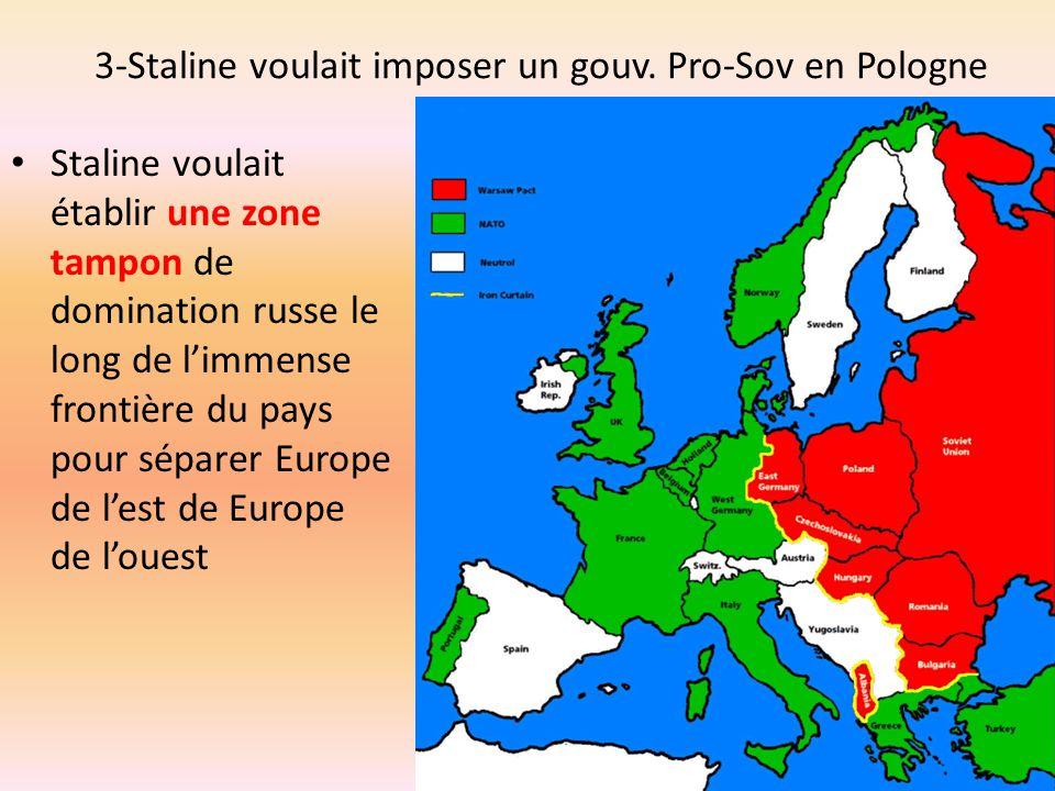 3-Staline voulait imposer un gouv. Pro-Sov en Pologne