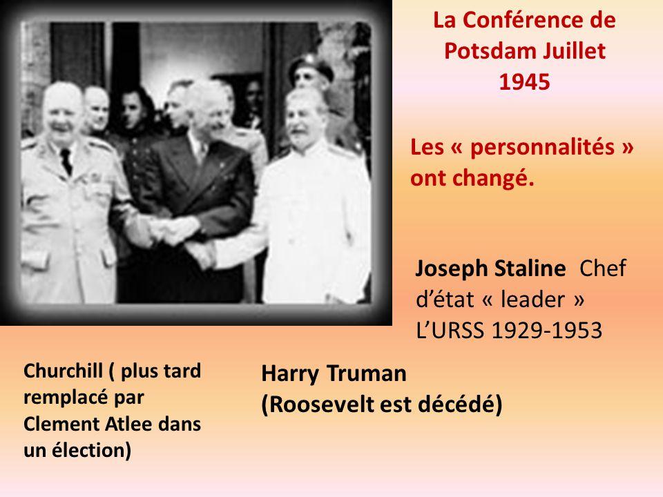 La Conférence de Potsdam Juillet 1945
