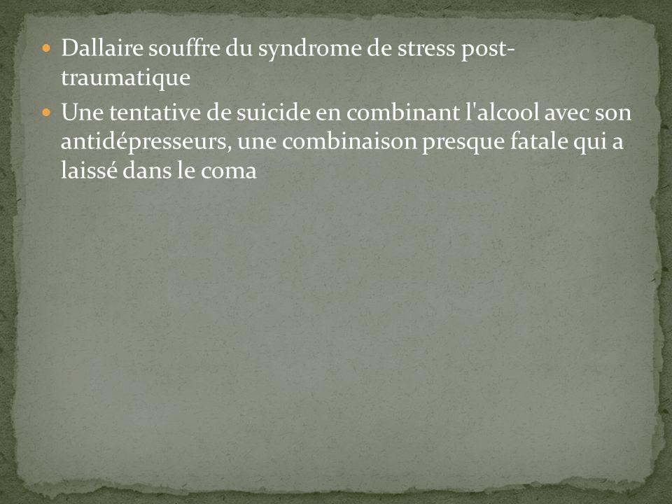 Dallaire souffre du syndrome de stress post- traumatique