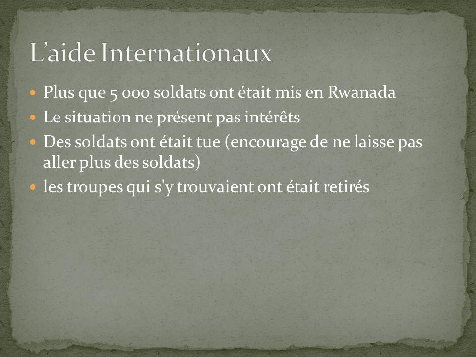 L'aide Internationaux