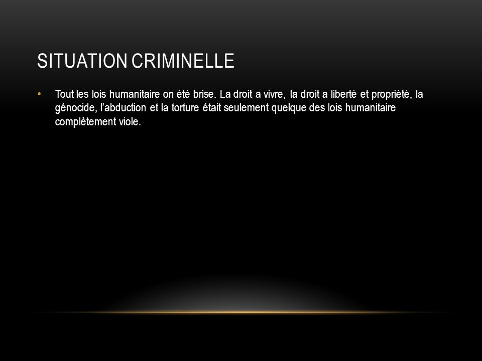 Situation Criminelle
