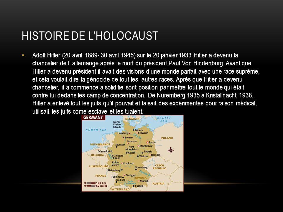 Histoire de l'holocaust