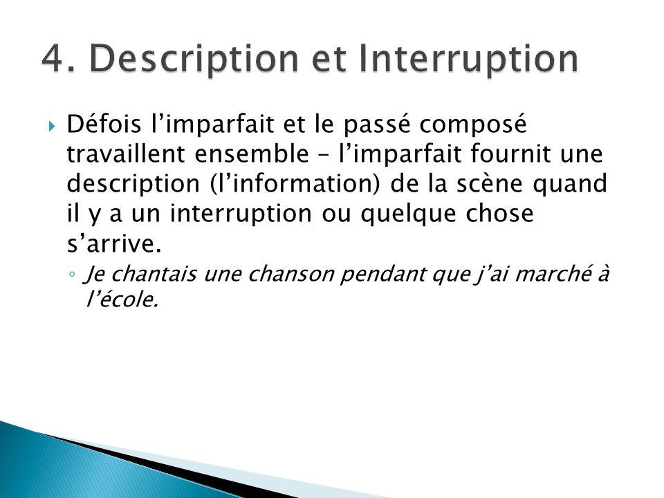 4. Description et Interruption