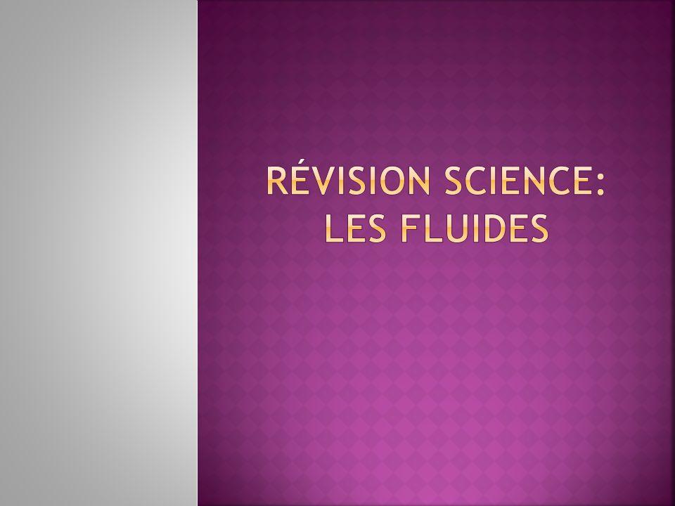Révision Science: Les fluides