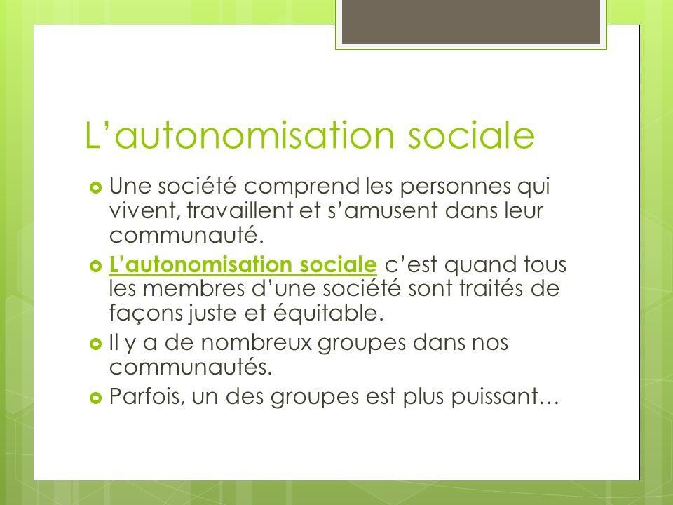 L'autonomisation sociale