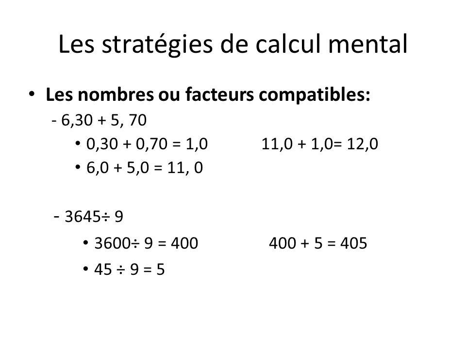 Les stratégies de calcul mental