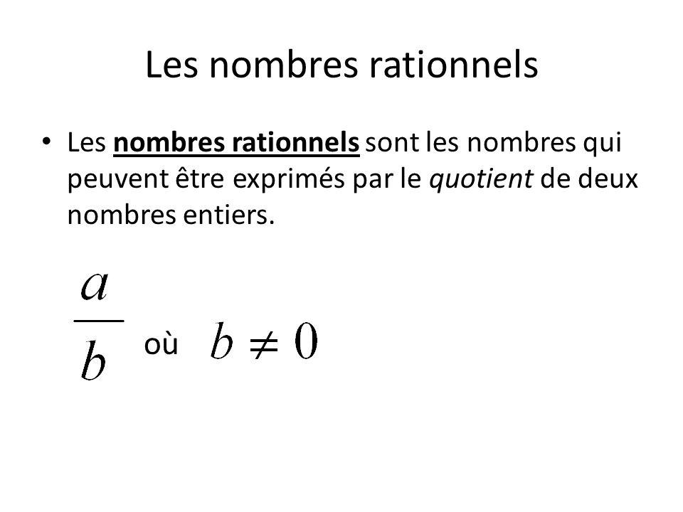 Les nombres rationnels