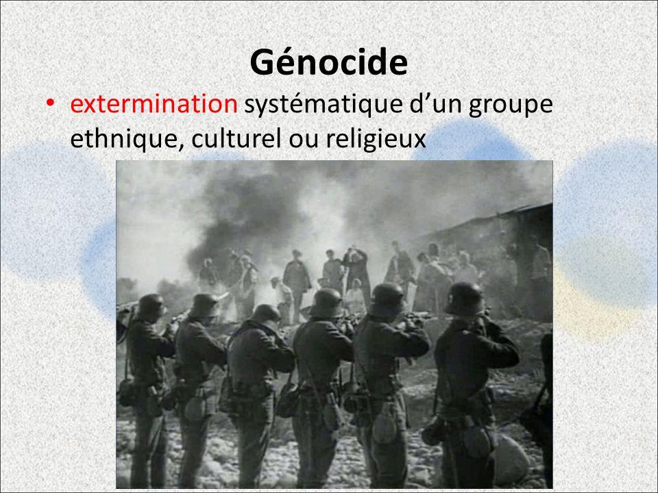 Génocide extermination systématique d'un groupe ethnique, culturel ou religieux. (Basic) Transparent light effect.