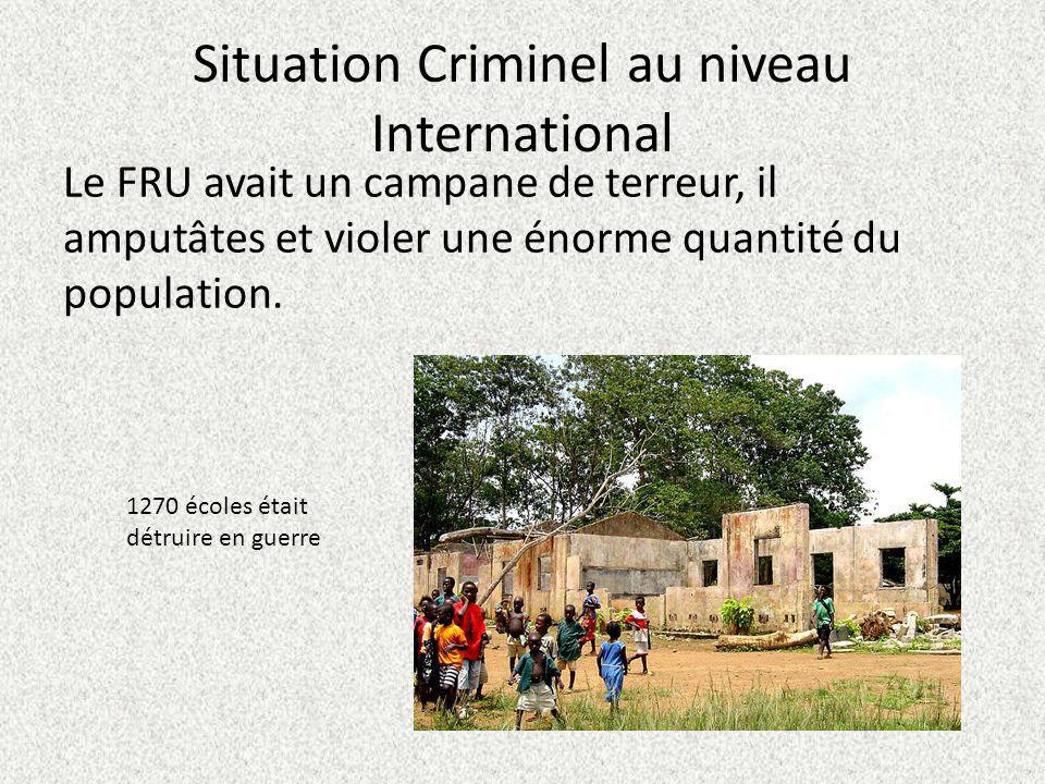 Situation Criminel au niveau International