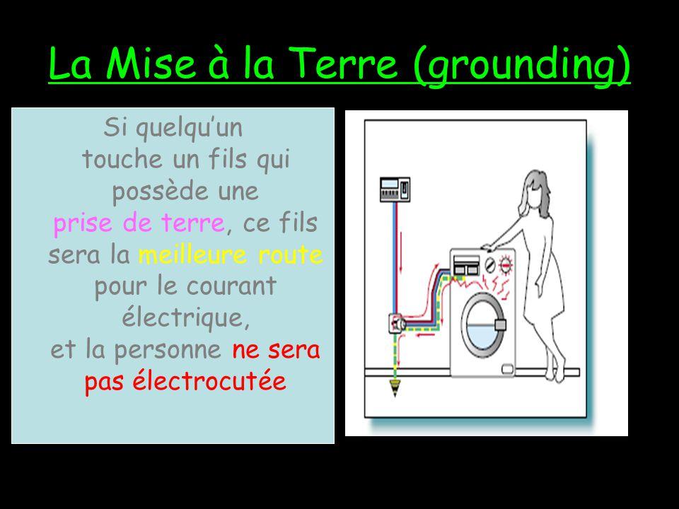 La Mise à la Terre (grounding)