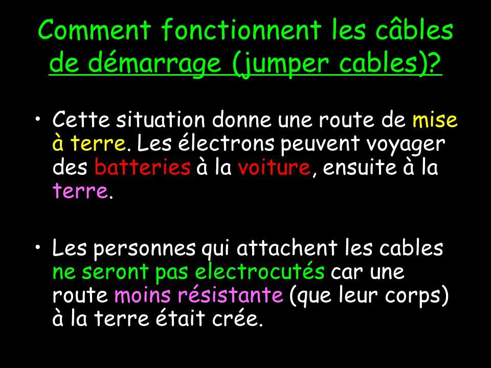Comment fonctionnent les câbles de démarrage (jumper cables)
