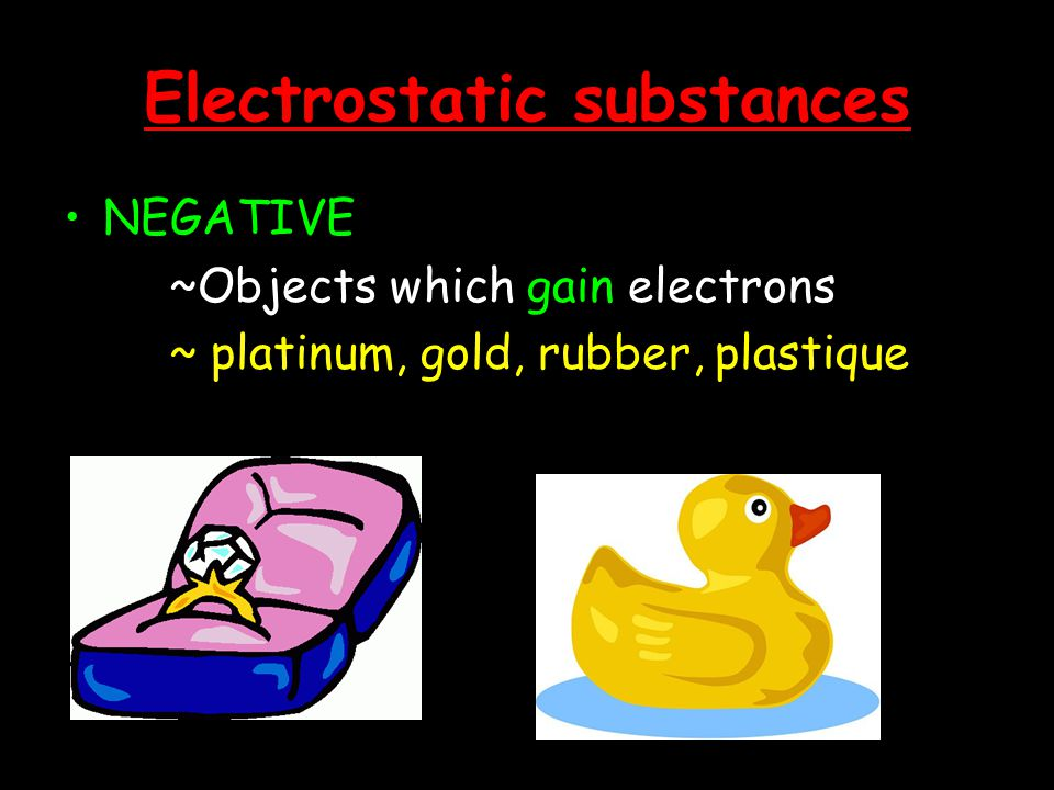 Electrostatic substances