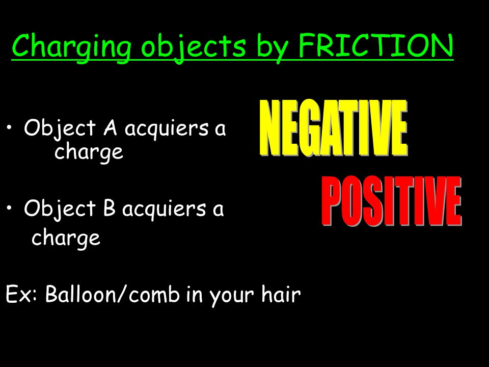 Charging objects by FRICTION