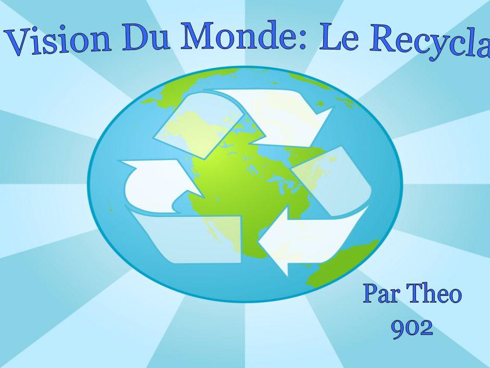 Ma Vision Du Monde: Le Recyclage