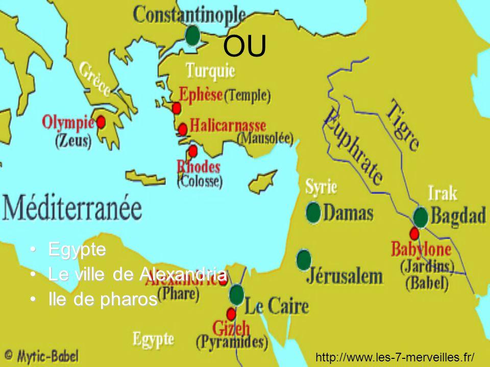 OU Egypte Le ville de Alexandria Ile de pharos