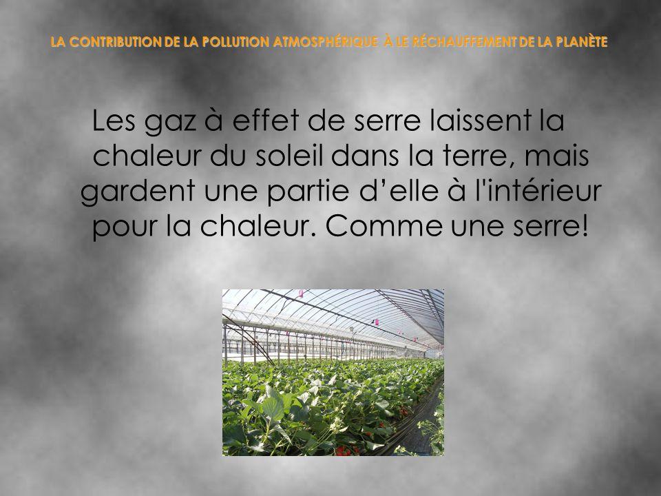 LA CONTRIBUTION DE LA POLLUTION ATMOSPHÉRIQUE À LE RÉCHAUFFEMENT DE LA PLANÈTE