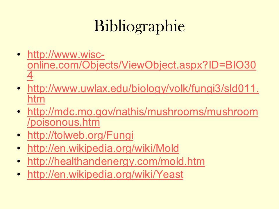 Bibliographie http://www.wisc-online.com/Objects/ViewObject.aspx ID=BIO304. http://www.uwlax.edu/biology/volk/fungi3/sld011.htm.