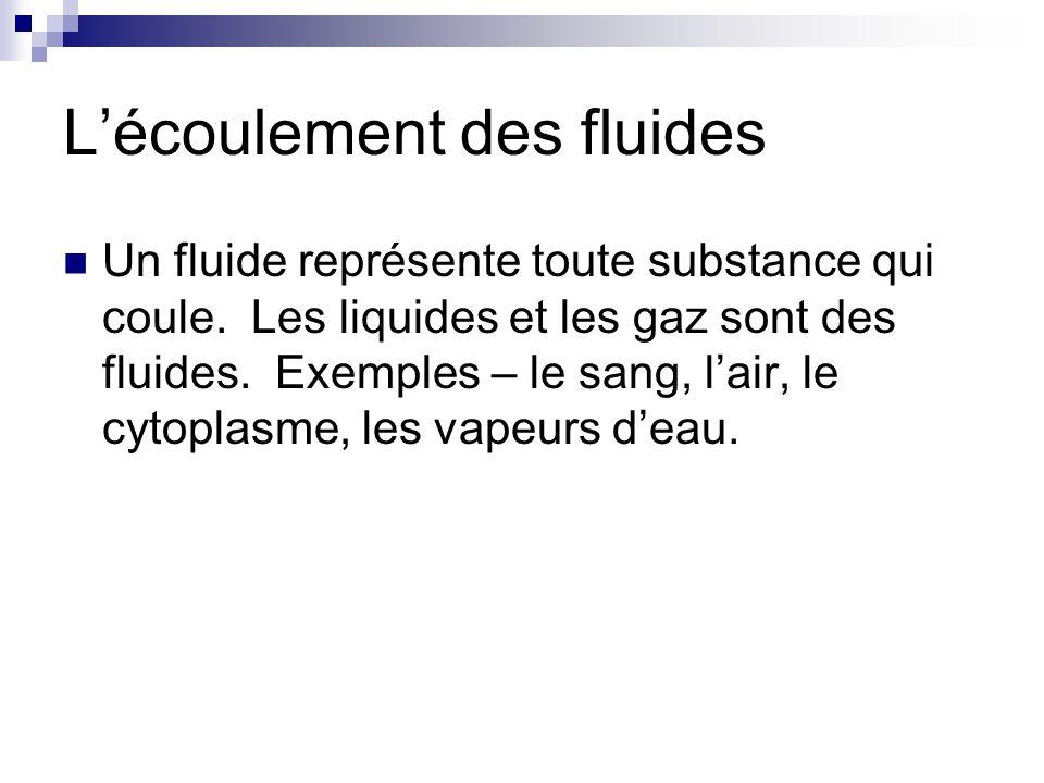 L'écoulement des fluides