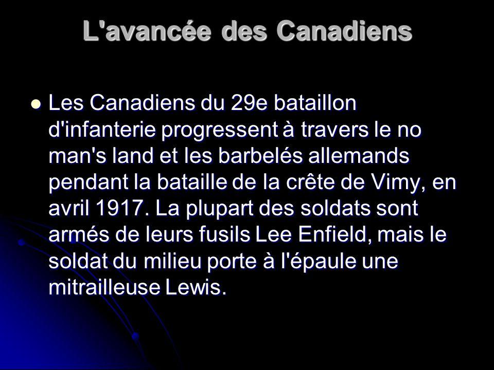 L avancée des Canadiens