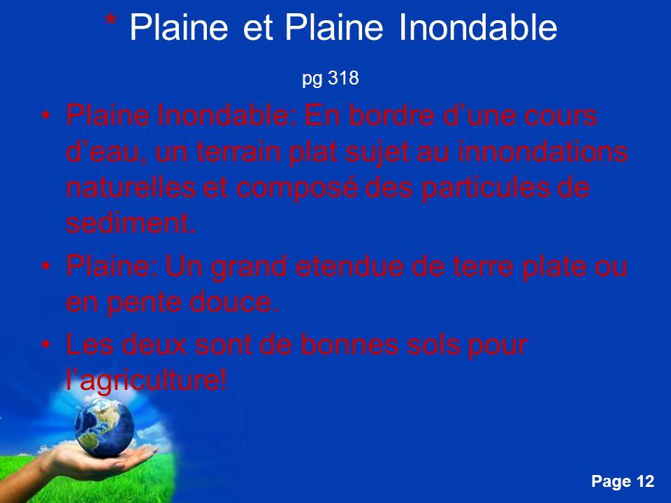 * Plaine et Plaine Inondable pg 318