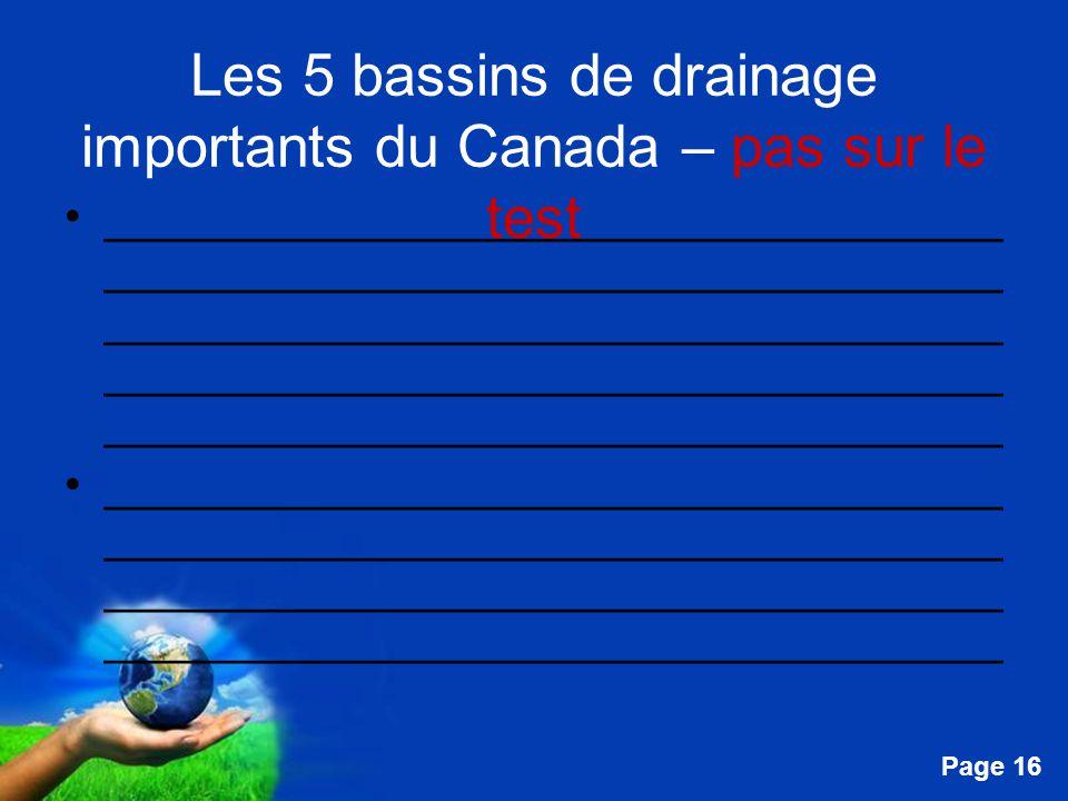 Les 5 bassins de drainage importants du Canada – pas sur le test