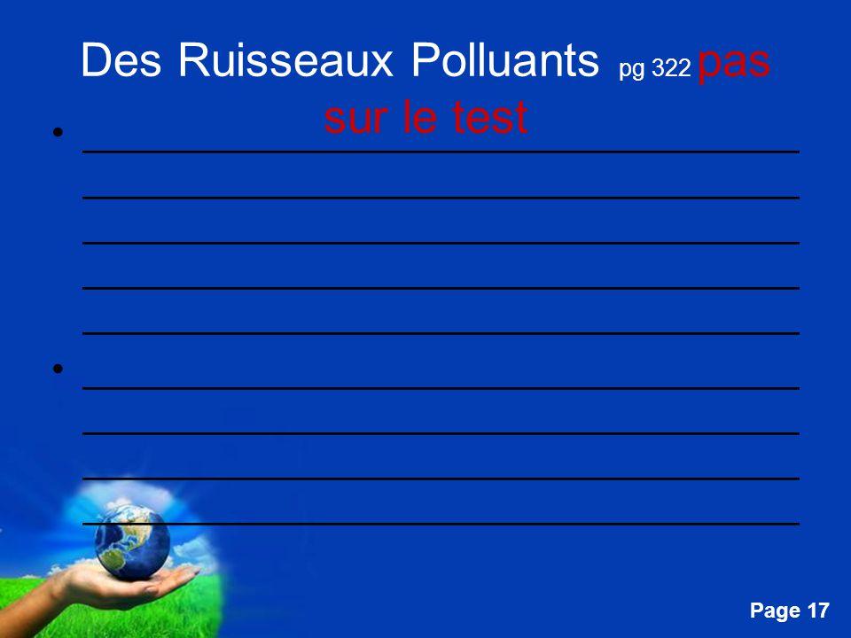 Des Ruisseaux Polluants pg 322 pas sur le test