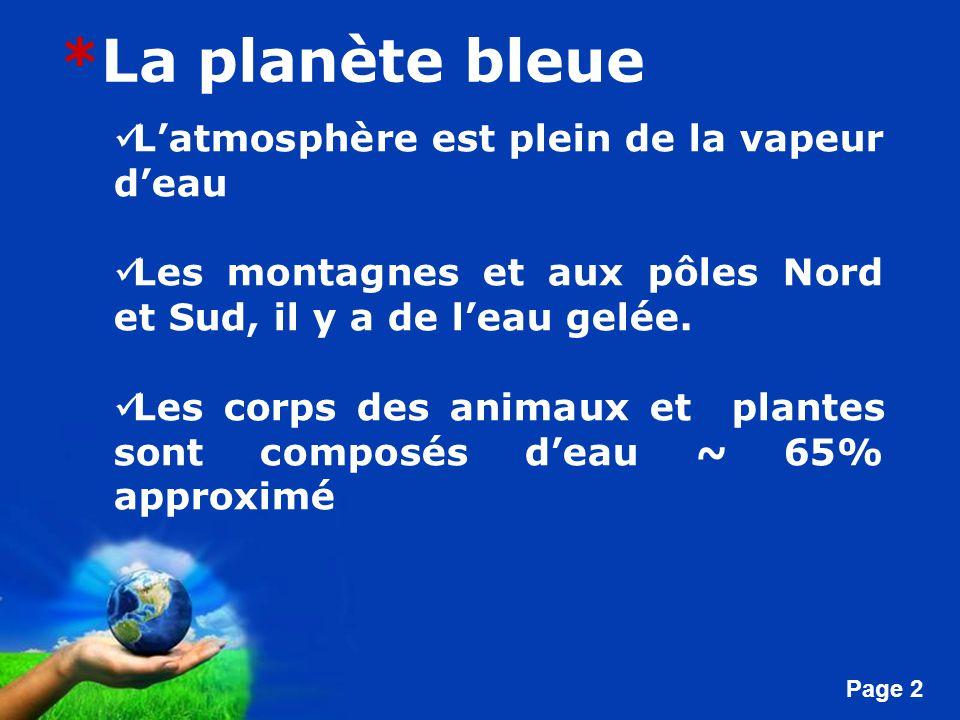 *La planète bleue L'atmosphère est plein de la vapeur d'eau