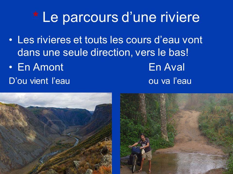 * Le parcours d'une riviere