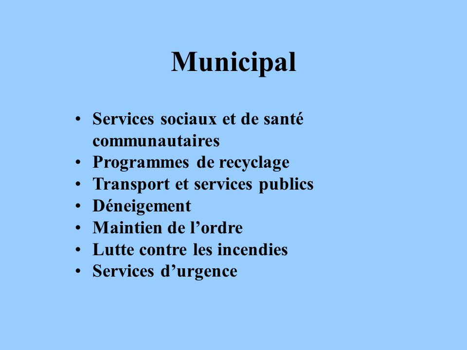 Municipal Services sociaux et de santé communautaires