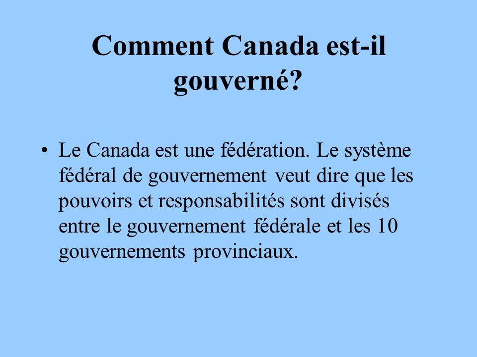Comment Canada est-il gouverné