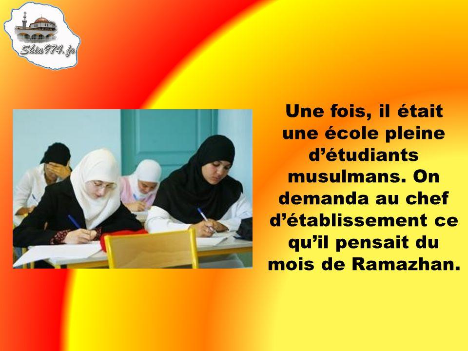 Une fois, il était une école pleine d'étudiants musulmans