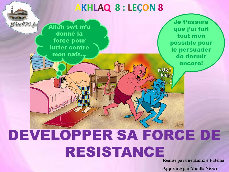 DEVELOPPER SA FORCE DE RESISTANCE