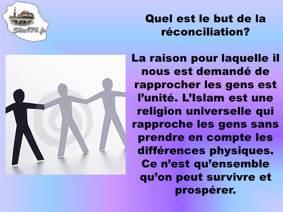 Quel est le but de la réconciliation