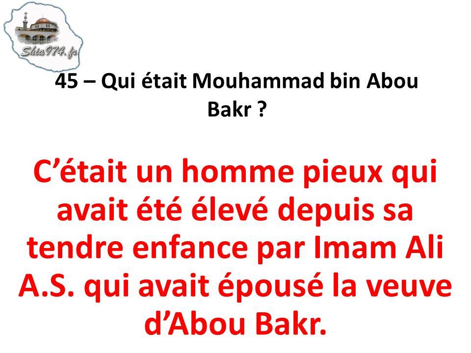 45 – Qui était Mouhammad bin Abou Bakr