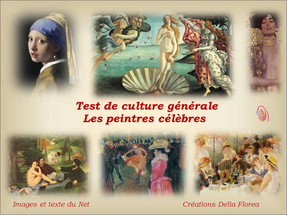 Test de culture générale Les peintres célèbres