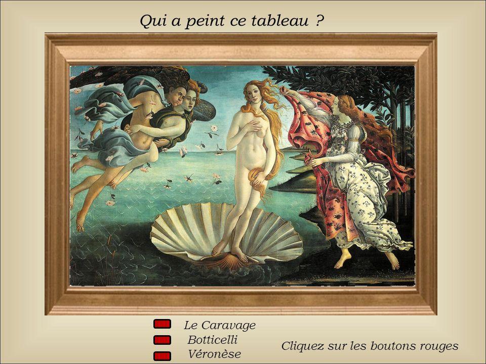 Qui a peint ce tableau Le Caravage Botticelli Véronèse