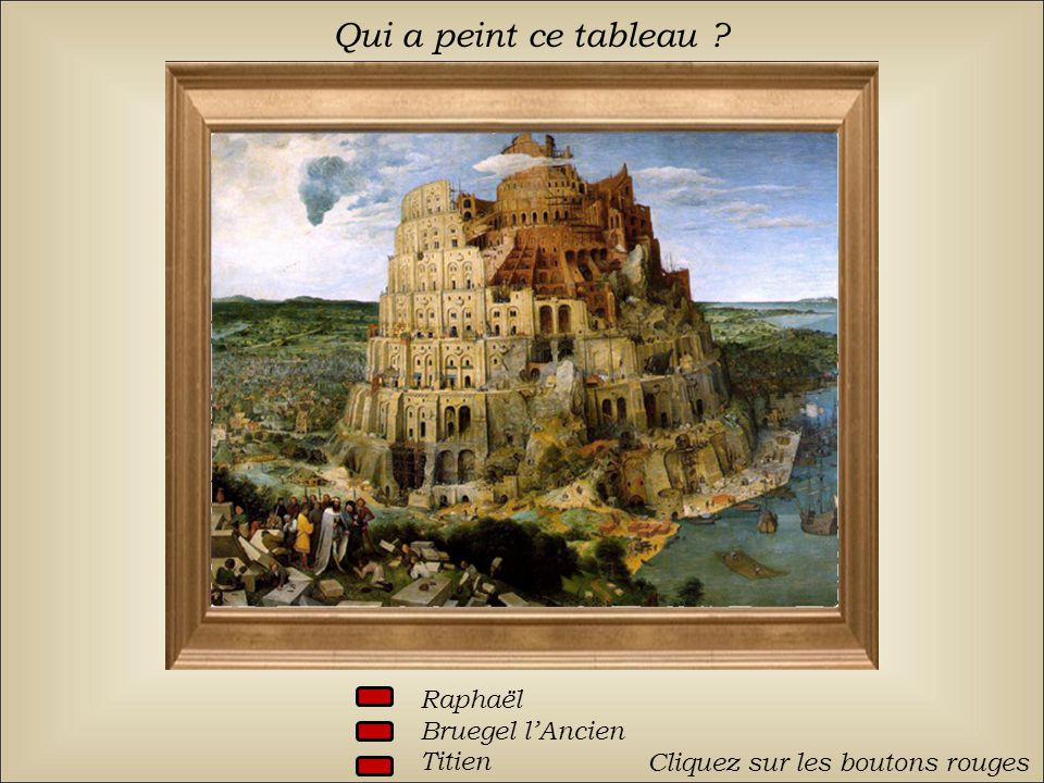 Qui a peint ce tableau Raphaël Bruegel l'Ancien Titien
