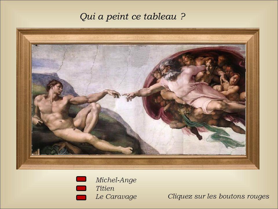 Qui a peint ce tableau Michel-Ange Titien Le Caravage