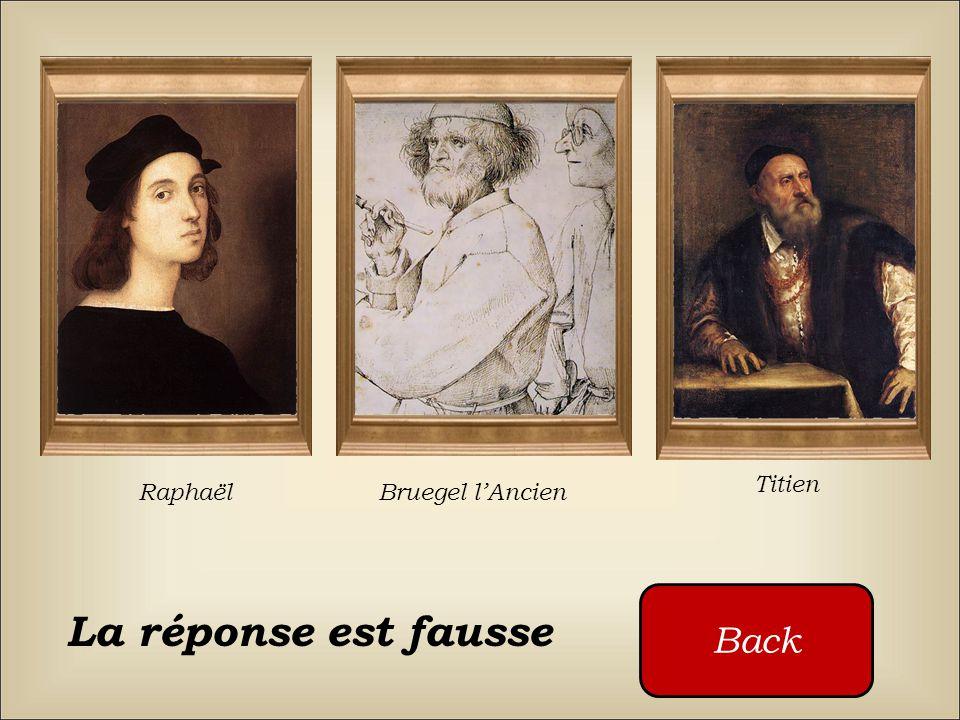 Titien Raphaël Bruegel l'Ancien Back La réponse est fausse