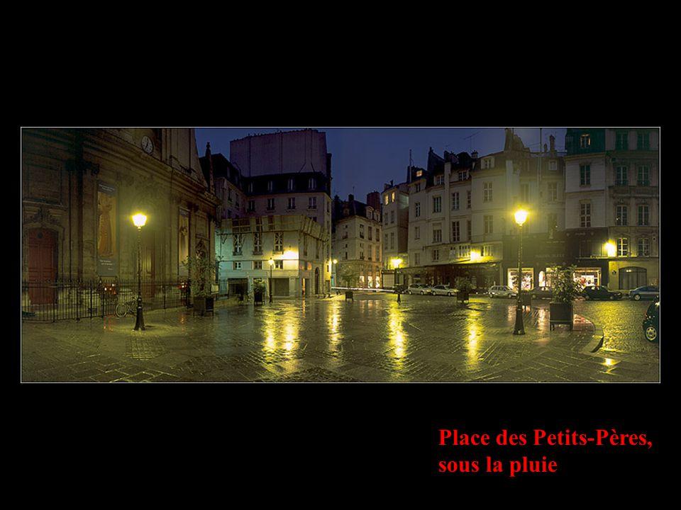 Place des Petits-Pères, sous la pluie