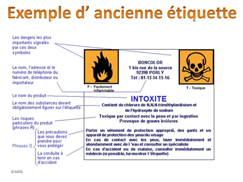 Exemple d' ancienne étiquette