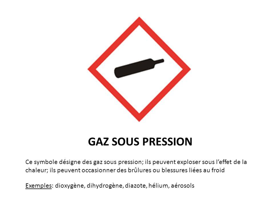 GAZ SOUS PRESSION