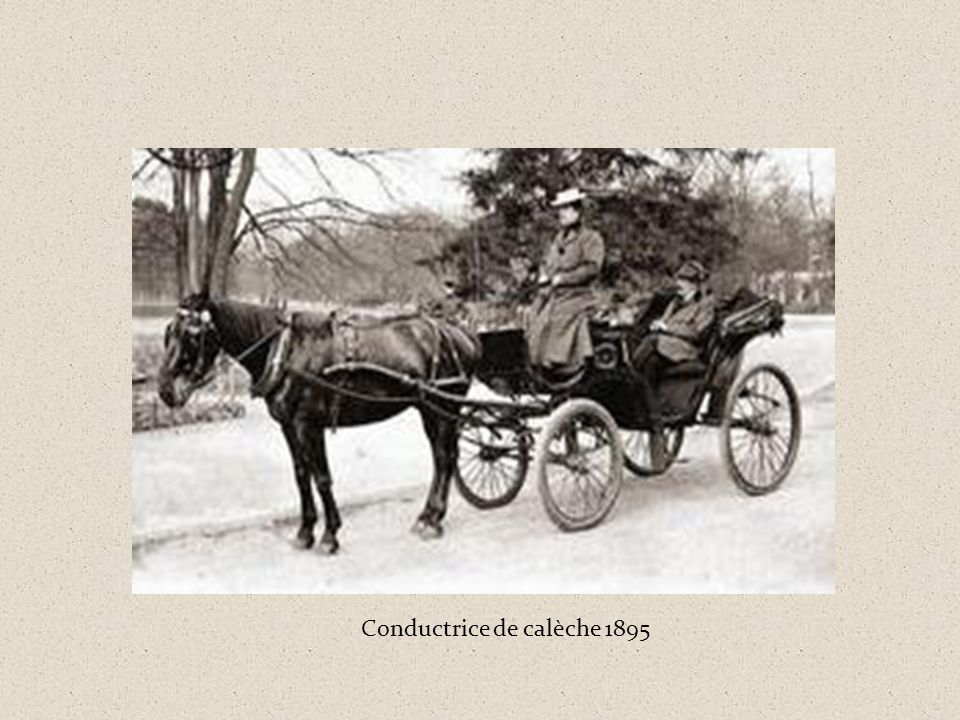 Conductrice de calèche 1895