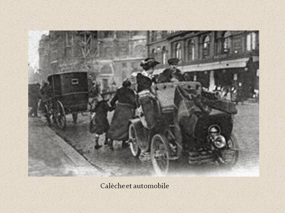 Calèche et automobile