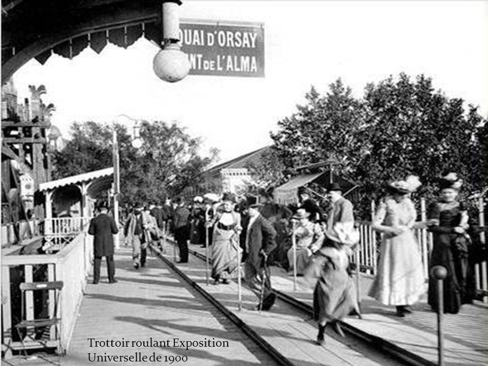 Trottoir roulant Exposition Universelle de 1900