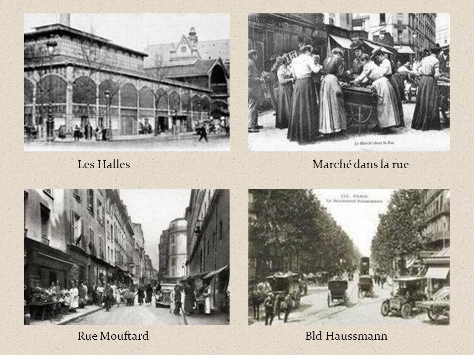 Les Halles Marché dans la rue Rue Mouftard Bld Haussmann